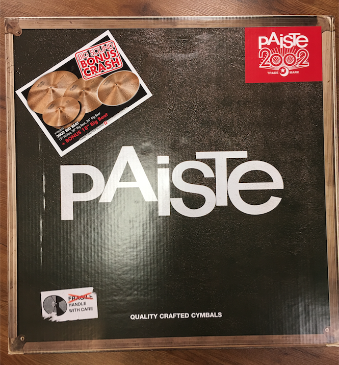 "eb675294ddd Paiste 2002 Big Beat Cymbal Set 15"" 20"" 24"" With FREE 18"""