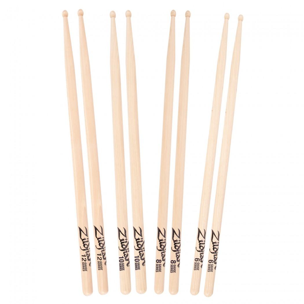 Zildjian 12 Gauge Wood Tip Drumsticks