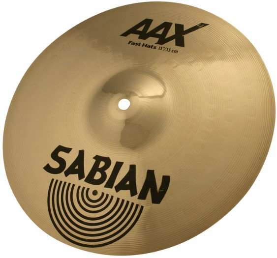 """SABIAN 13"""" AAX Fast Cymbal Hats Brilliant"""
