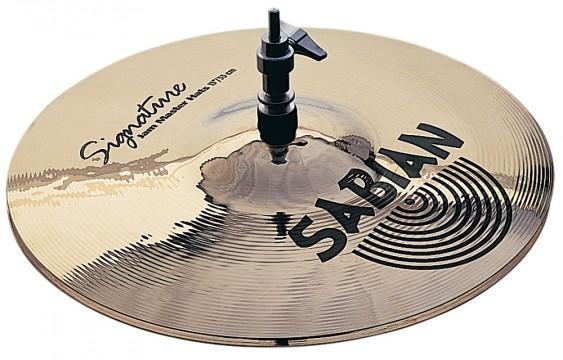 "SABIAN 13"" Vault D. Garibaldi Jam Master Cymbal Hats Brilliant"