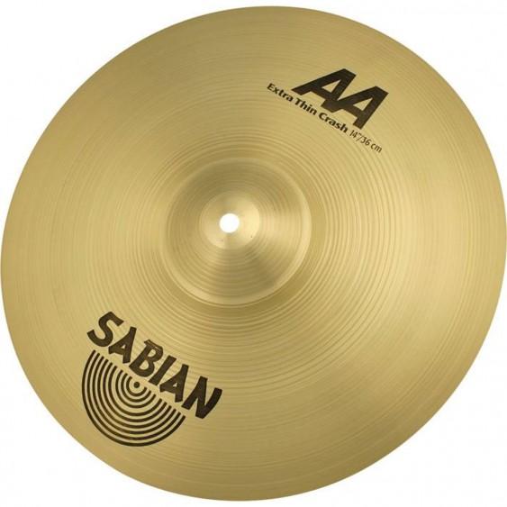 """SABIAN 14"""" AA Extra Thin Crash Brilliant Cymbal"""
