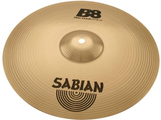 "SABIAN 14"" B8 Thin Crash Cymbal"