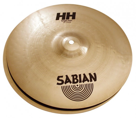 "SABIAN 14"" HH Bright Cymbal Hats Brilliant"
