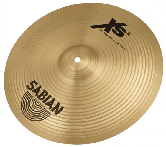 "SABIAN 14"" Xs20 Medium Thin Crash Brilliant Cymbal"
