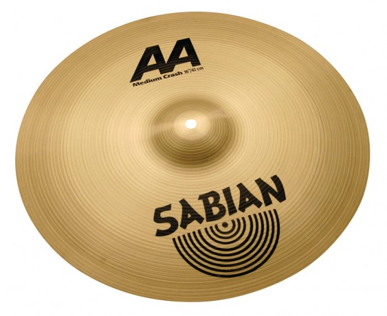 "Sabian 16"" AA M Crash Brilliant Finish"