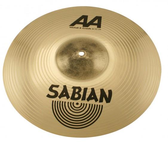 """SABIAN 16"""" AA Metal-X Crash Brilliant Cymbal"""