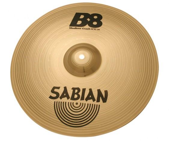 "SABIAN 16"" B8 Medium Crash Cymbal"