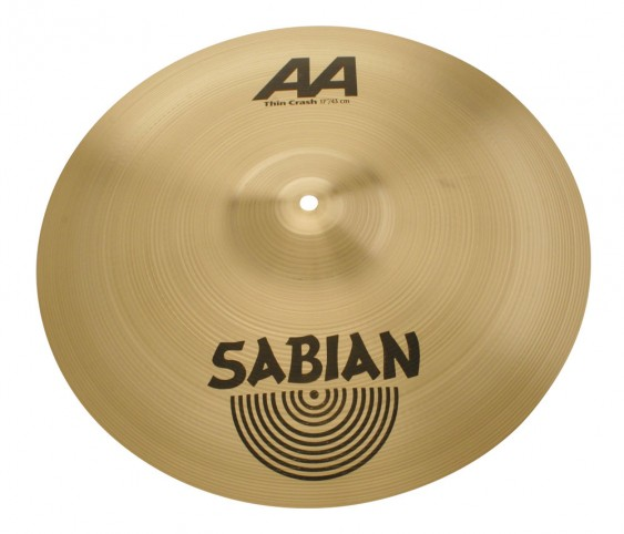 "SABIAN 17"" AA Thin Crash Brilliant Cymbal"