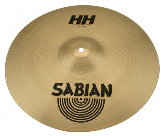 "Sabian 17"" HH Medium-Thin Crash Brilliant Finish"