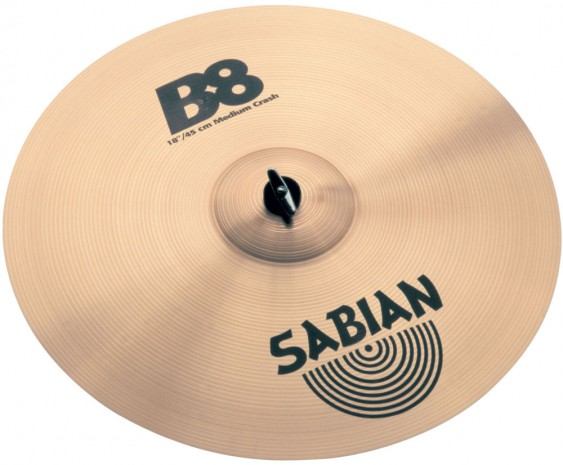 "SABIAN 18"" B8 Medium Crash Cymbal"