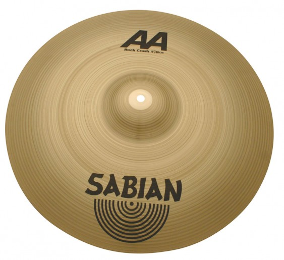 "Sabian 19"" AA Rock Crash Brilliant Finish"
