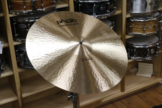 Paiste 19 Formula 602 Modern Essentials Crash-Demo of Exact Cymbal-1653g