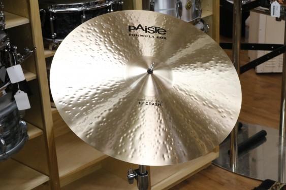 Paiste 18 Formula 602 Modern Essentials Crash-Demo of Exact Cymbal-1473g