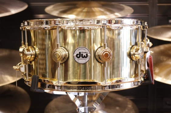 Drum Workshop 6.5x14 Polished Brass Snare Drum with Gold Hardware