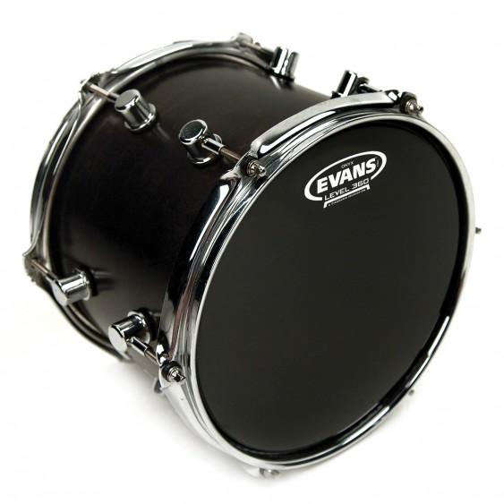 """Evans 12"""" Black Onyx 2-Ply Drumhead"""