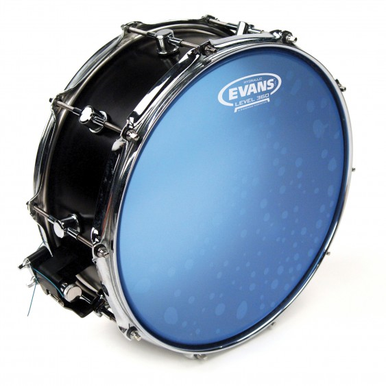 "Evans 14"" Blue Coated Hydraulic Drumhead"