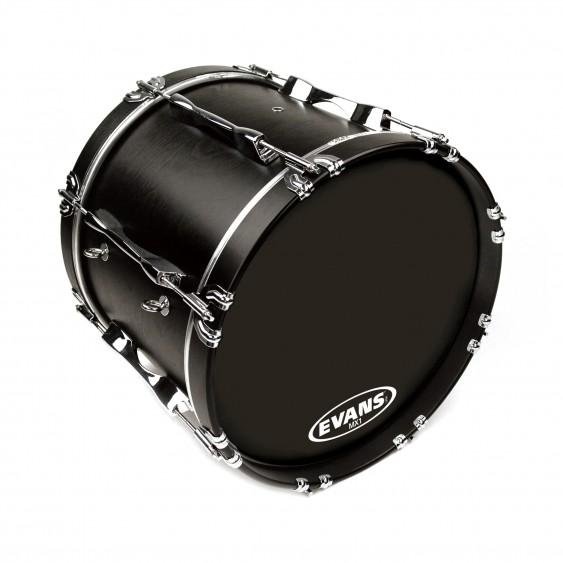 "Evans 16"" Black MX1 Bass Drumhead"