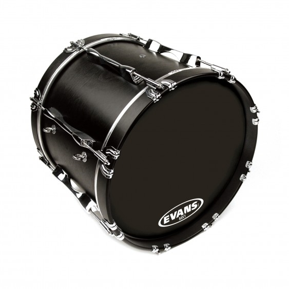 "Evans 18"" Black MX1 Bass Drumhead"