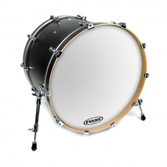 """Evans 18"""" Smooth White EQ3 Resonant Bass Drumhead"""