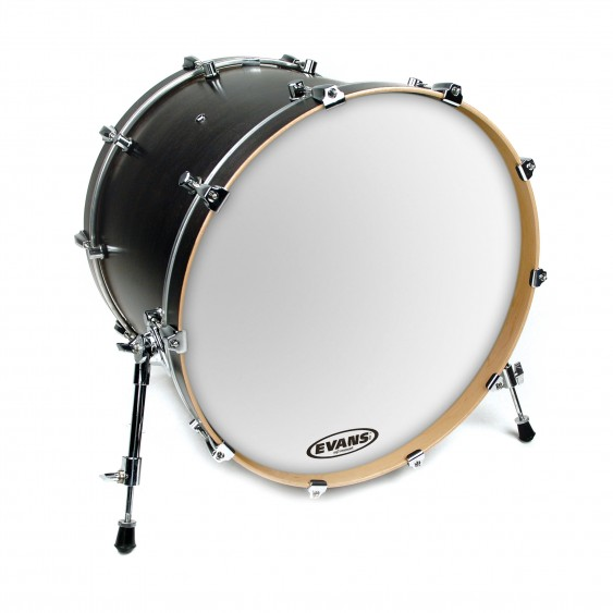 "Evans 20"" Smooth White EQ3 Resonant Bass Drumhead"