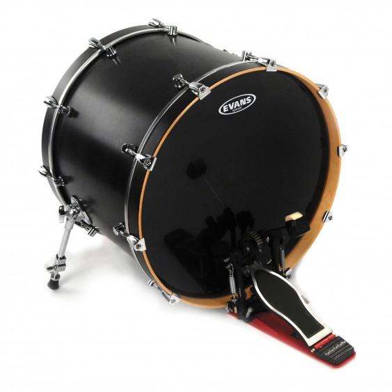 """Evans 22"""" Black Hydraulic Bass Drumhead"""