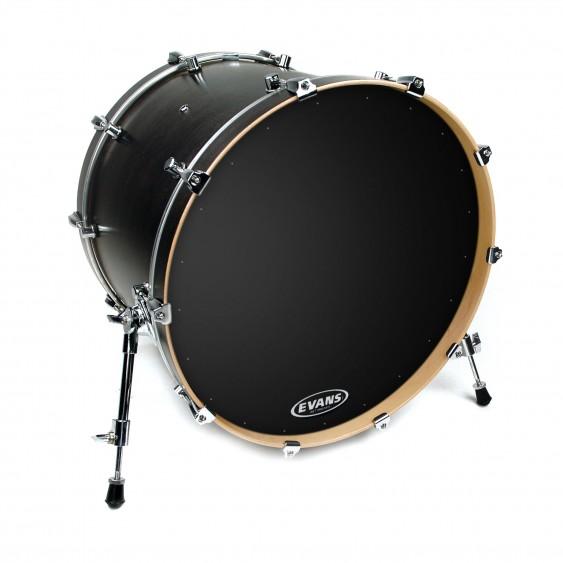 """Evans 22"""" Black EQ1 Resonant Bass Drumhead"""