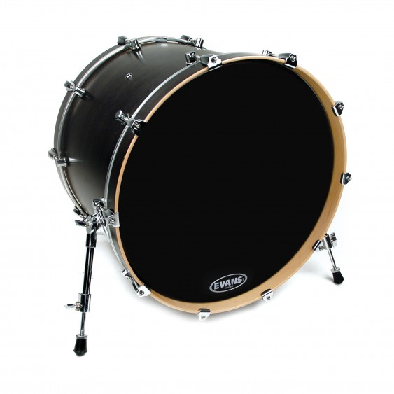 "Evans 22"" Resonant Black Bass Drumhead"