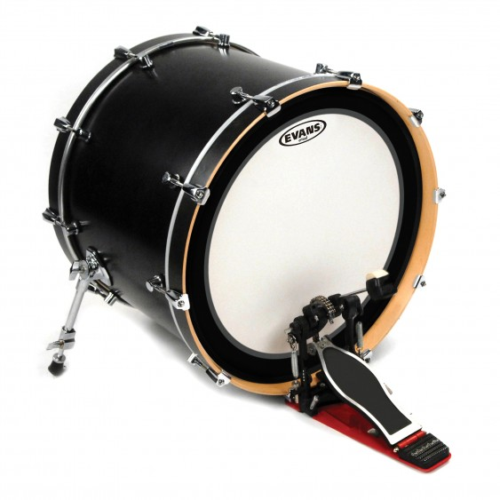 """Evans 24"""" Coated EMAD Batter Bass Drumhead"""