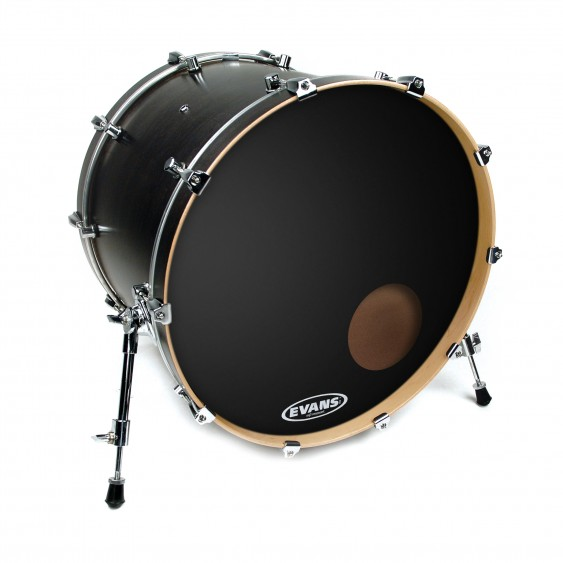 "Evans 24"" Black EQ3 Resonant Bass Drumhead"