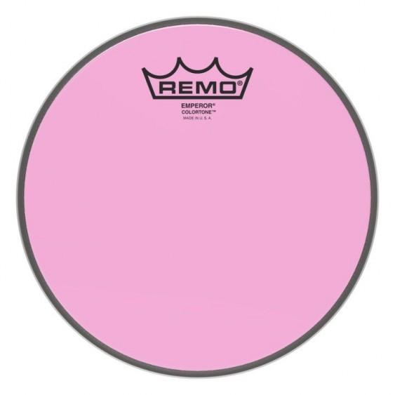 """Remo 10"""" Emperor Colortone Pink Drumhead"""