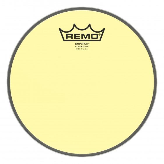 """Remo 8"""" Emperor Colortone Yellow Drumhead"""