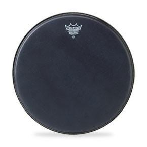 """Remo 16"""" Black Suede Emperor Bass Crimplock Drumhead"""