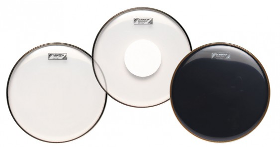 Aquarian 14'' Classic Clear Video Gloss Black Drumhead