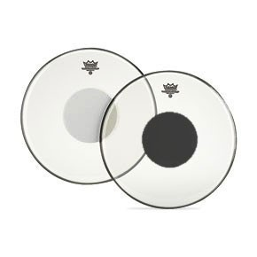 "Remo 15"" Clear Controlled Sound Batter Drumhead w/ White Dot"