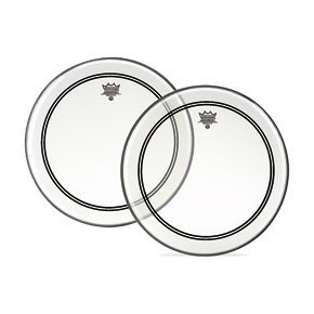 """Remo 18"""" Clear Powerstroke 3 Batter Drumhead w/ Clear Dot on Top Side"""