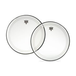"Remo 24"" Clear Powerstroke 4 Bass Drumhead w/ Falam Patch"