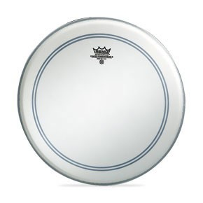 "Remo 16"" Coated Powerstroke 3 Batter Drumhead w/ Clear Dot on Top Side"
