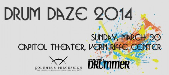 Columbus Percussion Ticket - Drum Daze 2014 - Sunday, March 30th **At this point tickets are only available at the theater**