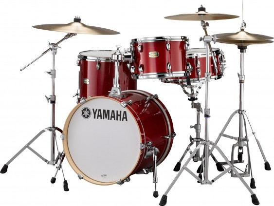 YAMAHA STAGE CUSTOM Bebop 18''X14'' BD, 14''X13'' FT, 12''X8'' TT, CRANBERRY RED SCB8F30CR