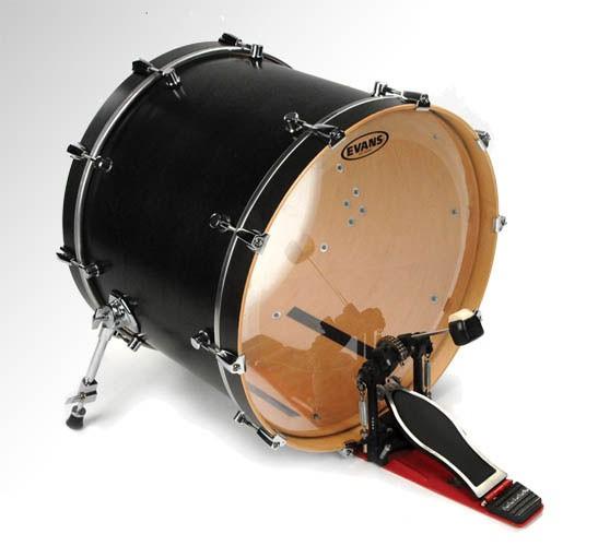 """Evans 24"""" Clear EQ1 Batter Bass Drumhead"""