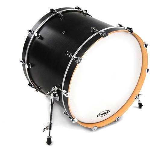 "Evans 18"" Coated White EQ1 Resonant Bass Drumhead"