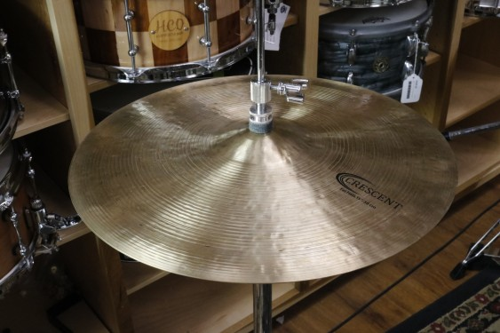 "Sabian Crescent 15"" Fat Hats - Demo of Exact Cymbal - Top - 1079g - Bottom - 1285g"