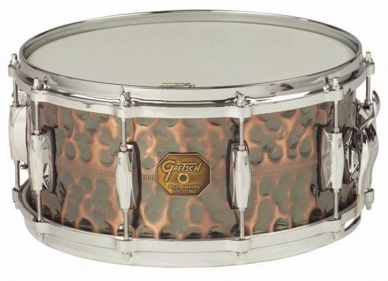 Gretsch 6.5X14 Hammered Antique Copper Snare Drum