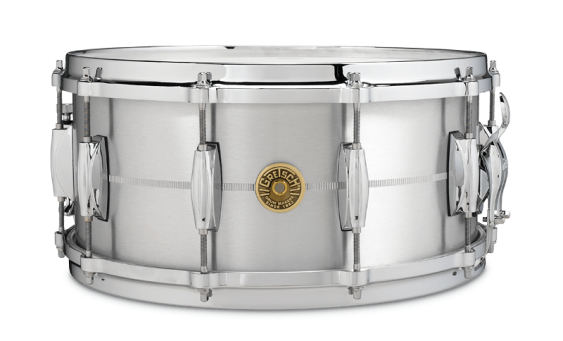 Gretsch 6.5x14 USA Solid Aluminum Snare Drum G4164SA