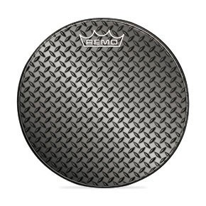 "Remo 18"" Diamond Plate Graphic Custom Bass Drumhead"