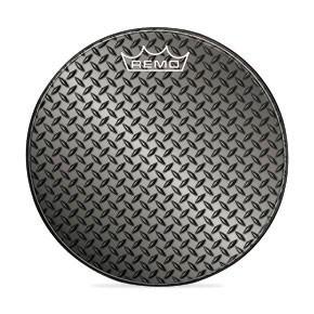 "Remo 24"" Diamond Plate Graphic Custom Bass Drumhead"