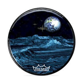 "Remo 22"" Mars Landscape Graphic Head Custom Bass Drumhead"