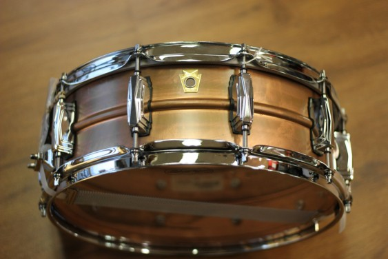 Ludwig 5x14 Raw Copper Phonic Snare Drum