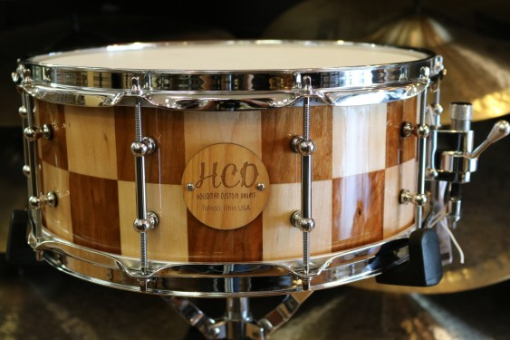 HCD Holloman Custom Cherry Maple 6X14 Snare Drum