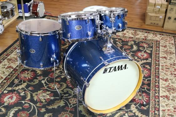Tama Silverstar Birch Drum Set 18x22, 7x10, 8x12, 14x16, 5.5x14 Snare Drum Indigo Sparkle